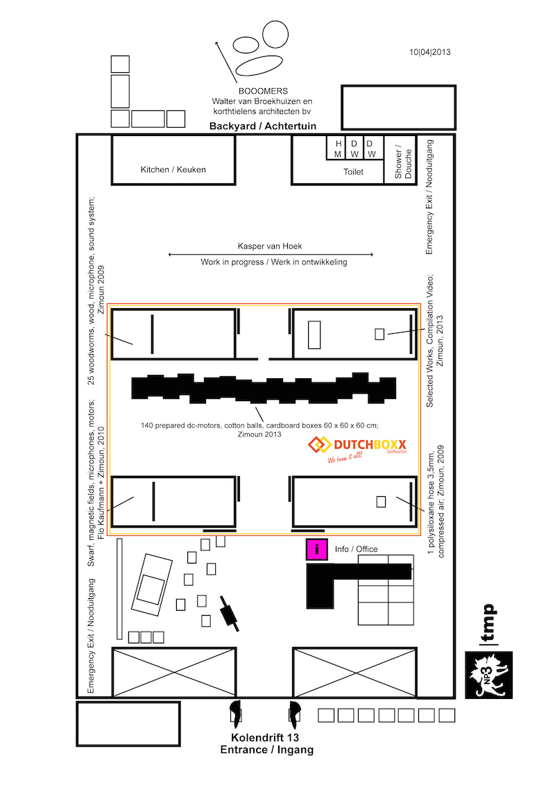 exhibition floor plan of M0Bi
